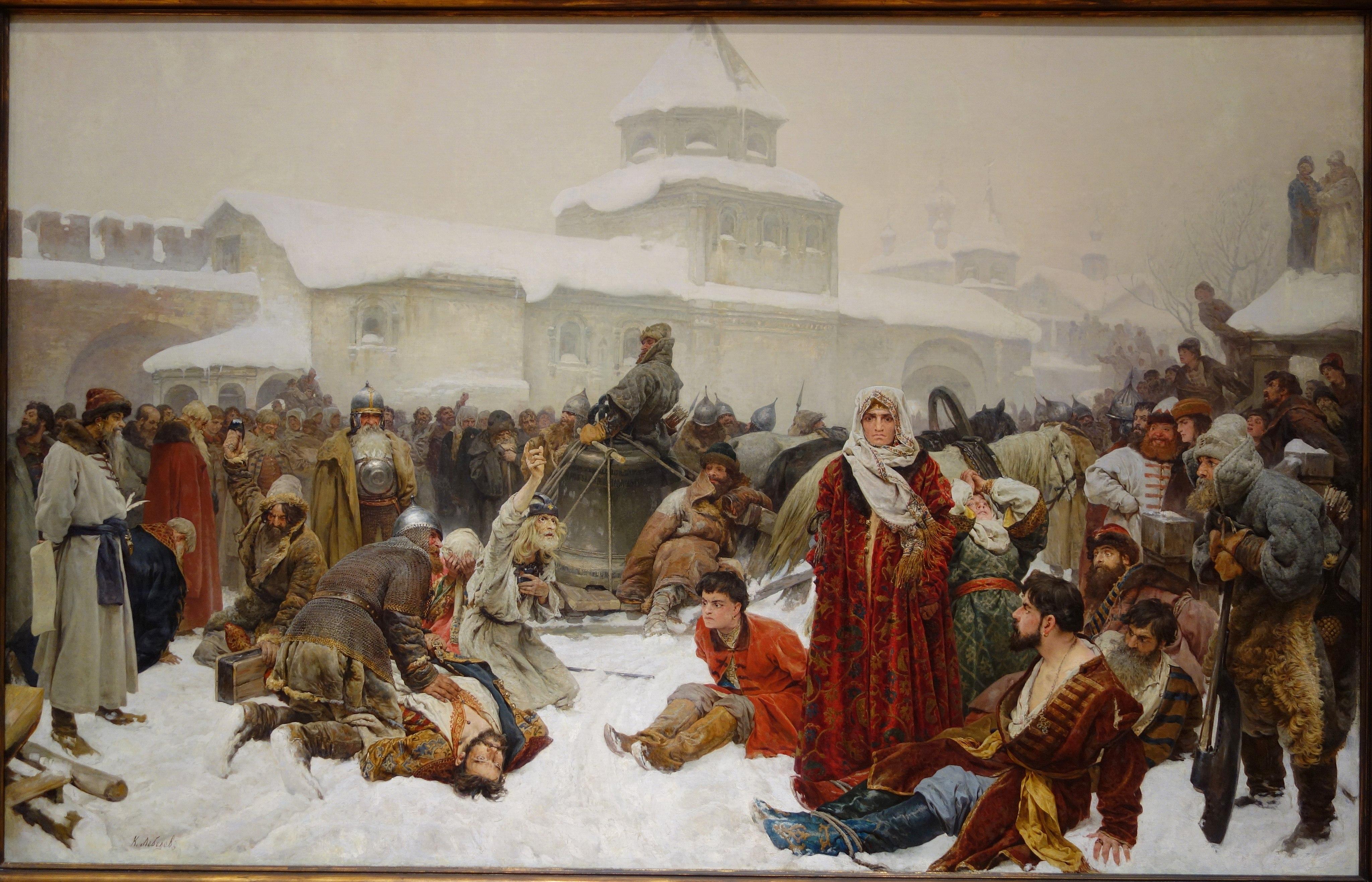 Lebedev's The Fall of Novgorod.