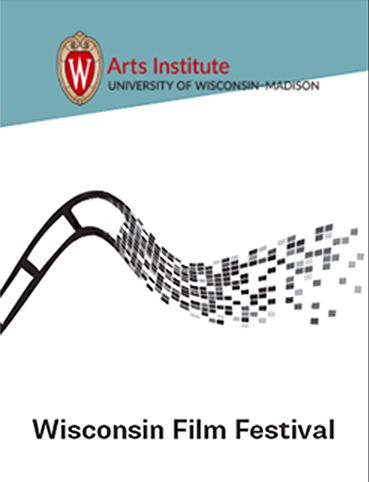 Poster for Wisconsin Film Festival featuring disintegrating film