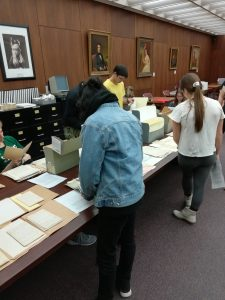 UW-Madison students from course Lit Trans 234: Soviet Life and Culture through Literature and Art visiting the WHS